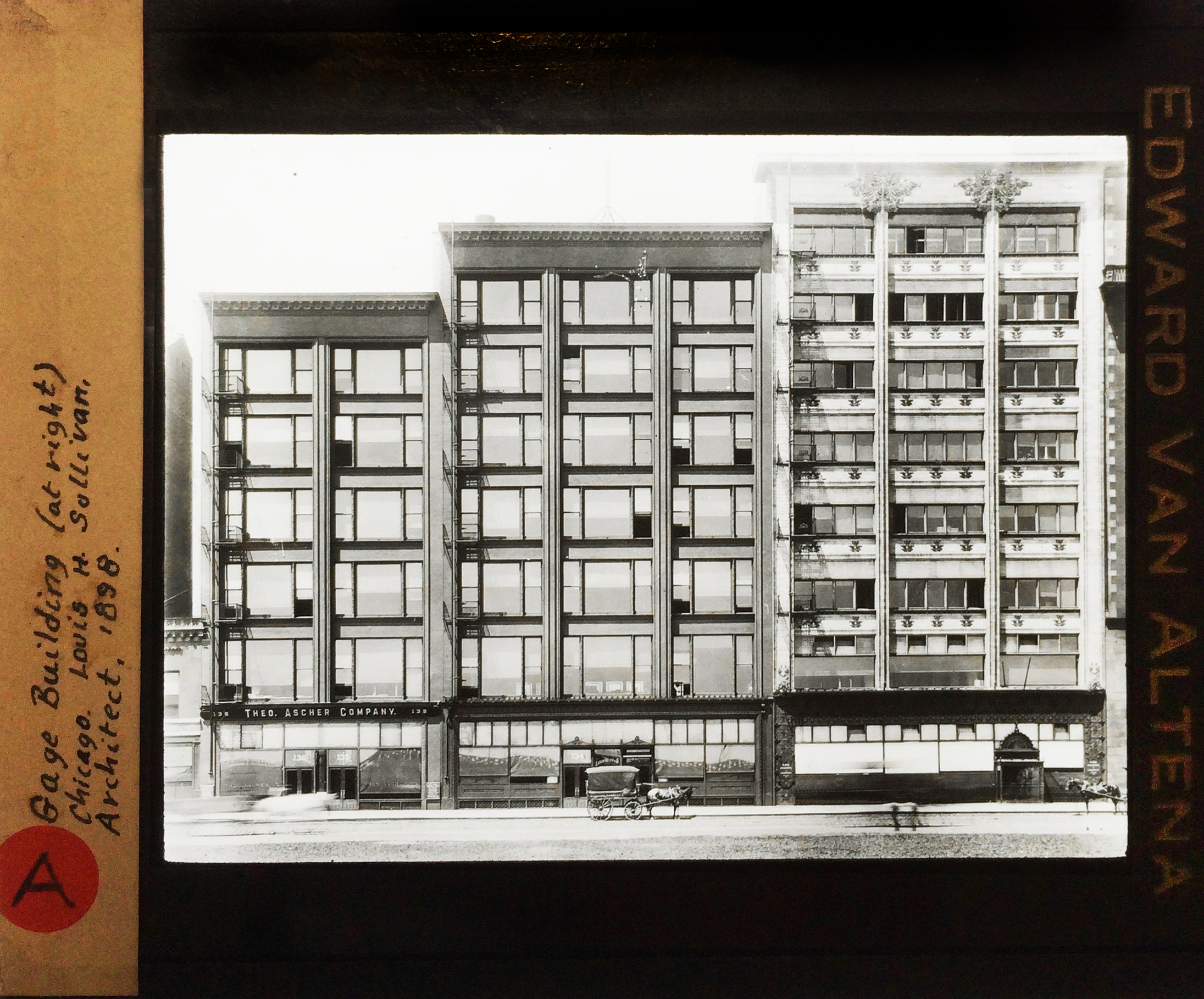 Image: Sigfried Giedionu0027s Lecture Slide Of The Gage Group Buildings By  Holabird And Roche. A Facade By Louis Sullivan Graces The Rightmost  Structure.